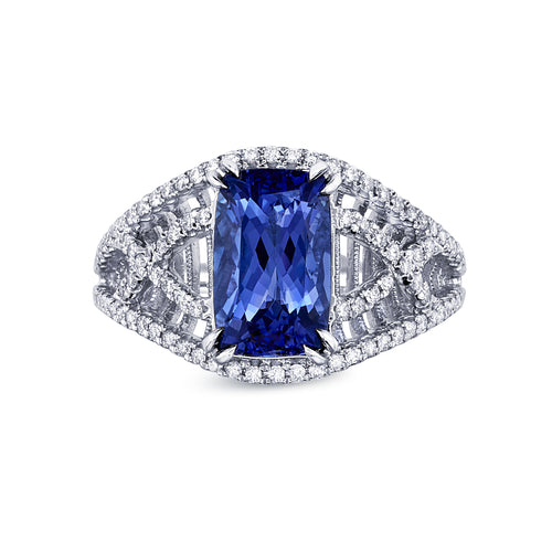 Criss Cross Tanzanite Ring