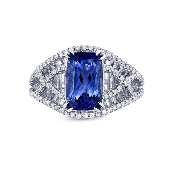Criss Cross Tanzanite Ring Greenleaf Diamonds