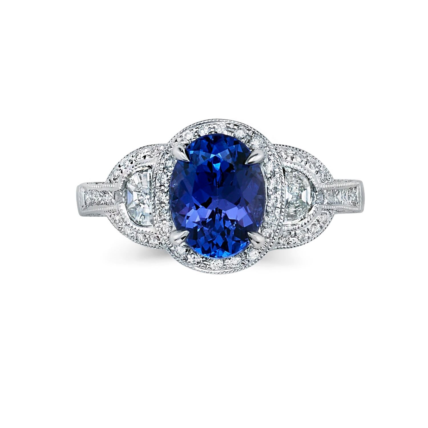 white rings gold and tanzanite ring engagement diamond