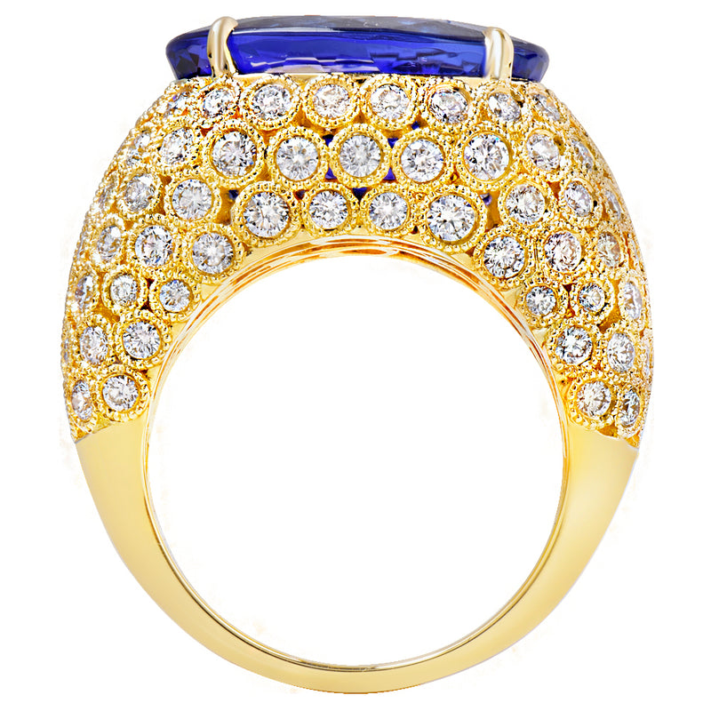 Tanzanite & Diamond Ring Greenleaf Diamonds