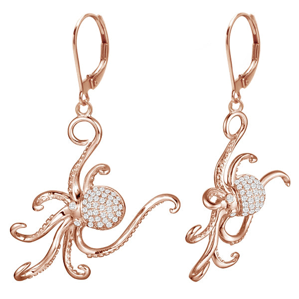 Diamond Octopus Earrings