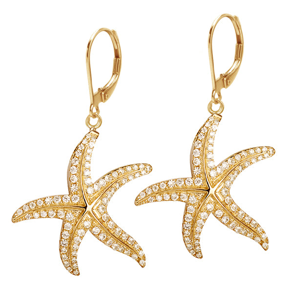 Sold: Diamond Starfish Earrings