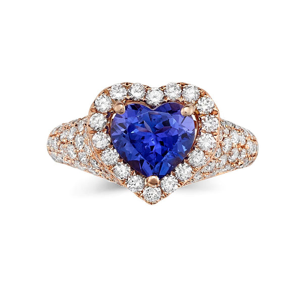 Sold: Lovely Heart Shaped Halo Tanzanite Ring