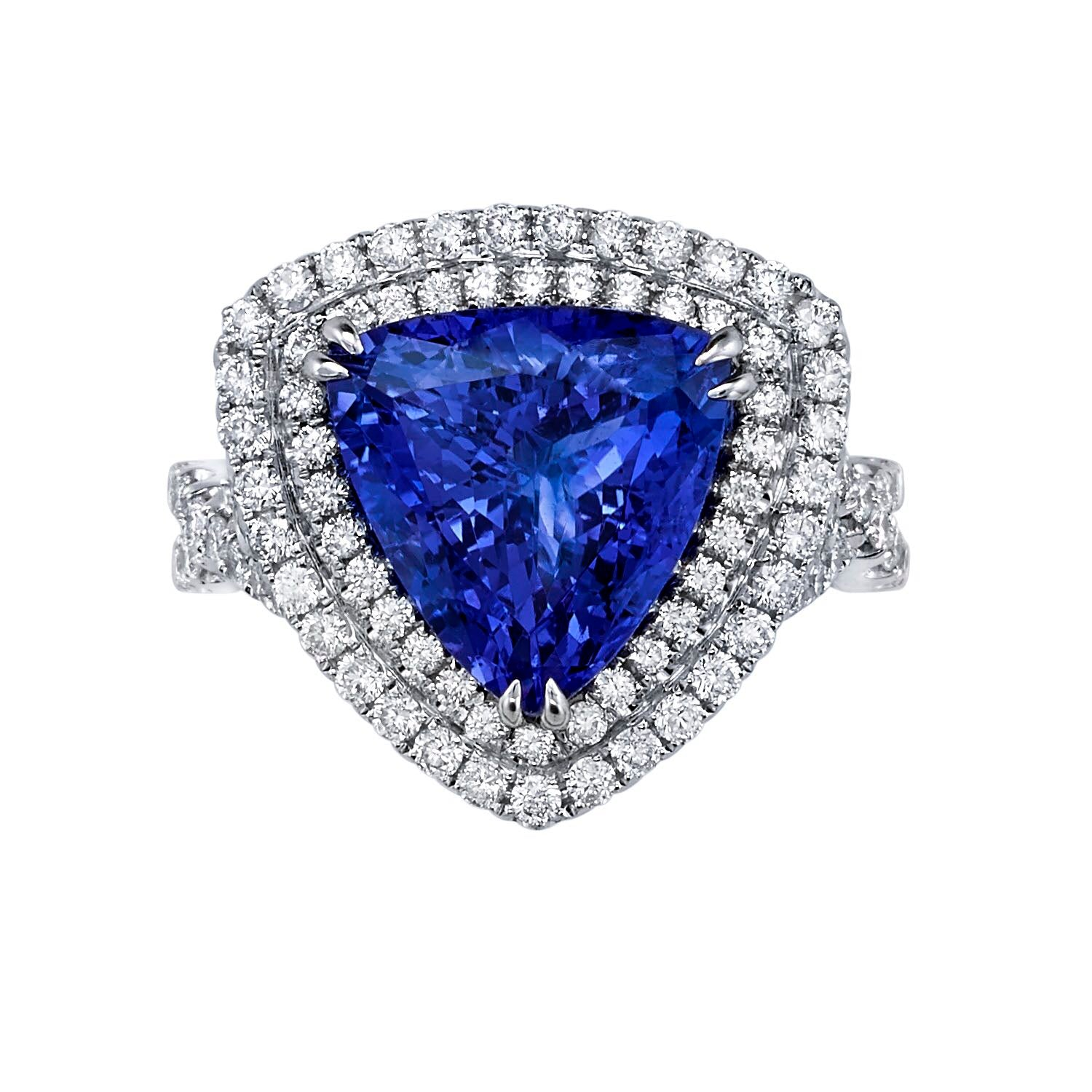 trillion bluish gemstone cut natural onceit violet facet ct jewellery tanzanite products light