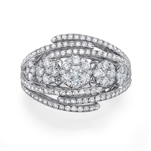 Five Cluster Diamond Ring