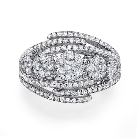 Infinity Design Pave Diamond Ring