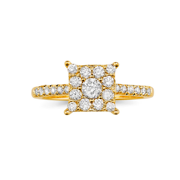Modern Super Cluster Diamond Ring