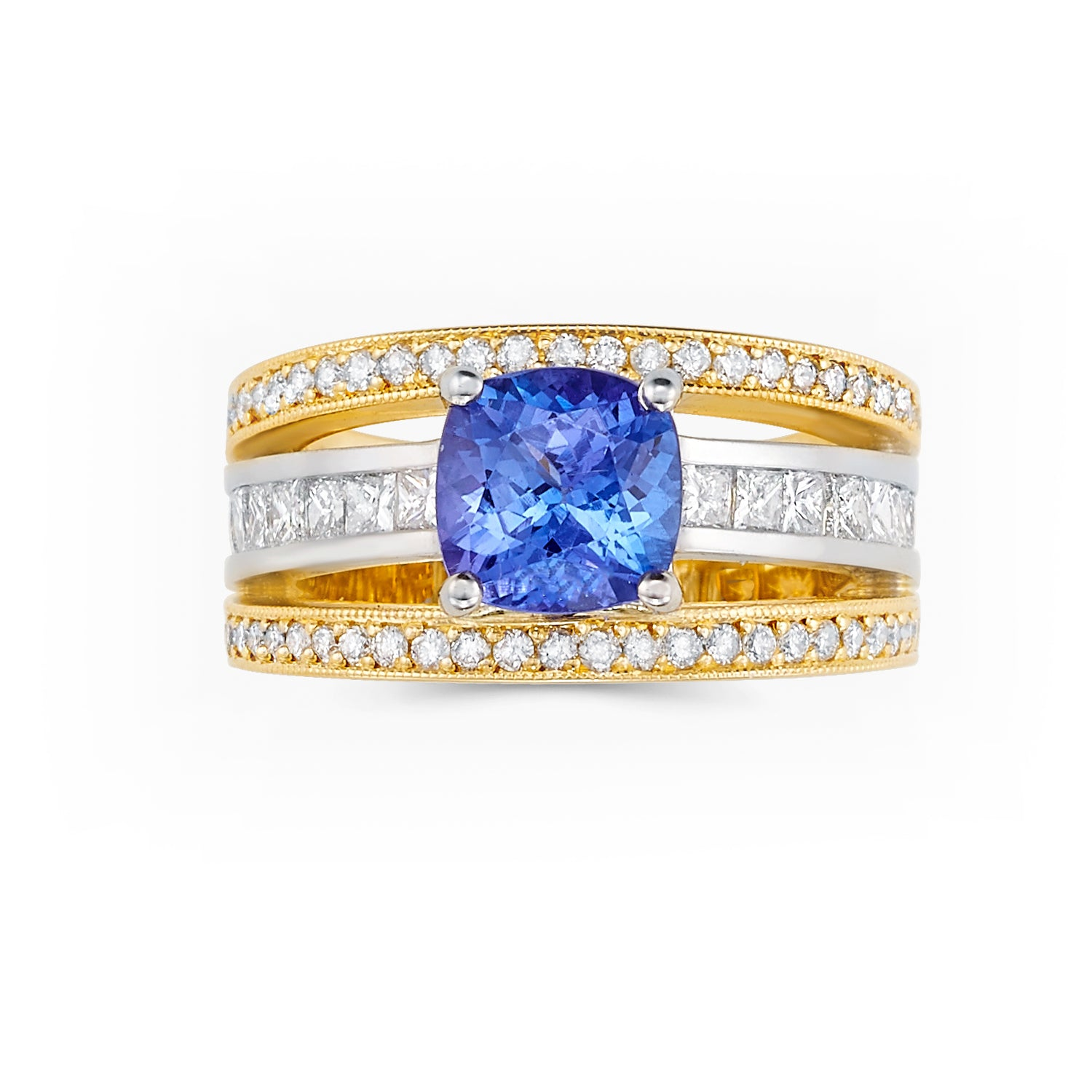 collection gold art image ring tanzanite white deco collections diamond amp
