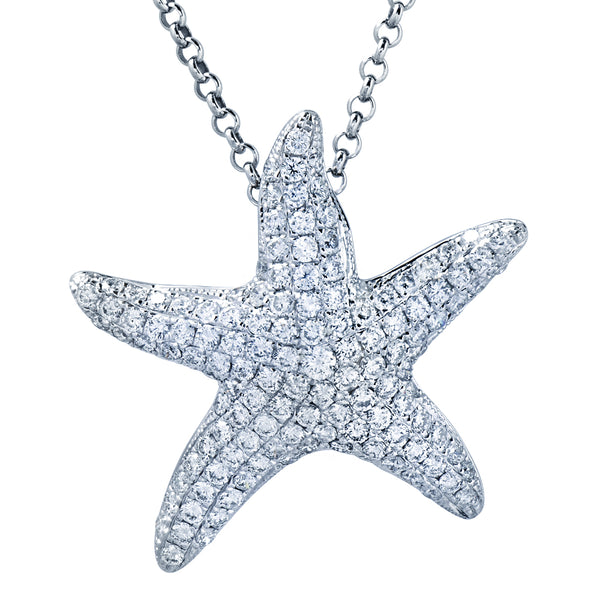 Gold & Diamond Starfish Pendant by Greenleaf Diamonds