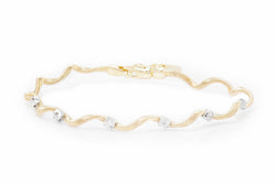 Swirly Diamond Soft Bangle