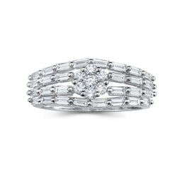 Unique Baguette/Round Diamond Ring