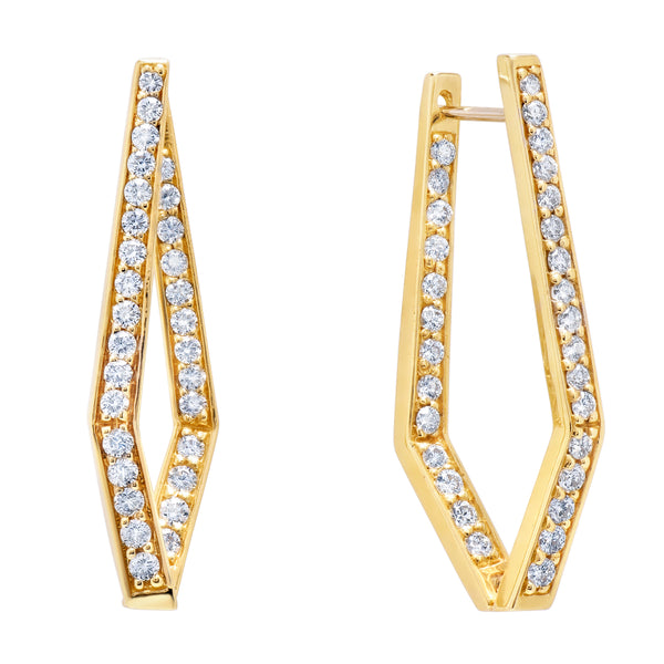 Geometrical Diamond Earrings