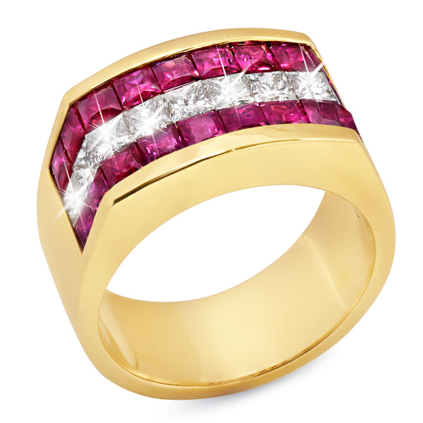 Men's Ruby Ring