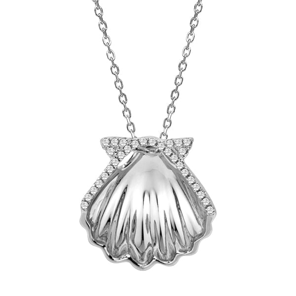Sunrise Shell Diamond Pendant