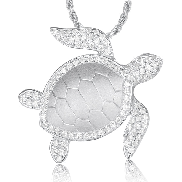 Turtle (Honu) Diamond Pavé Pendant