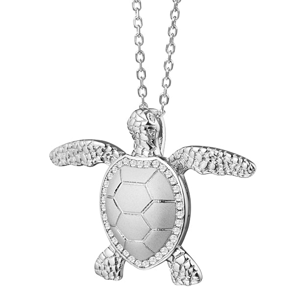 Turtle (Honu) Pavé Diamond Pendant