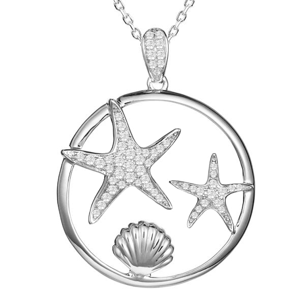 Starfish Diamond Pavé Pendant