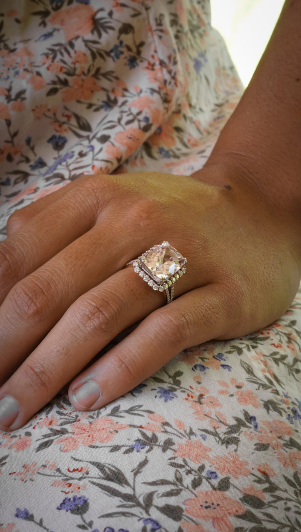 14k Rose Gold & Morganite Diamond Ring