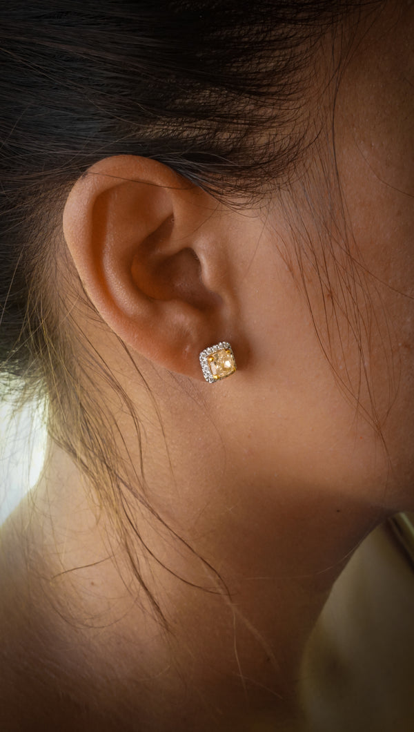 14k Two Tone Gold Earring Set