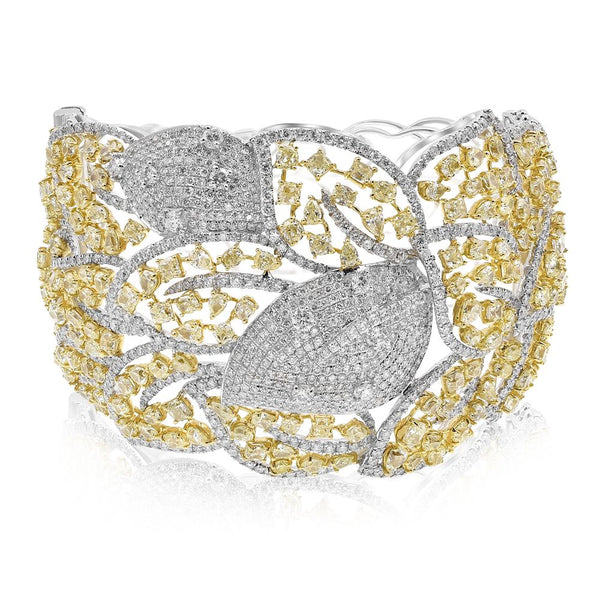 Yellow & White Diamond Fashion Bracelet