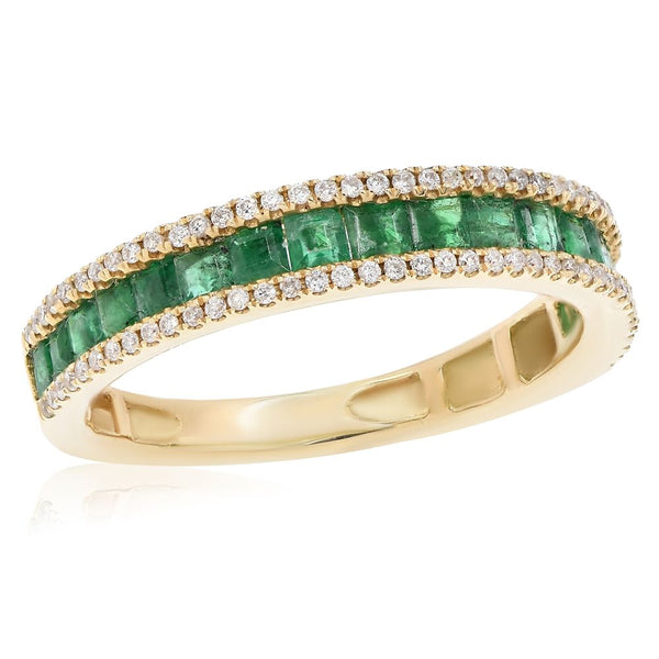 Emerald & Diamond Ring Greenleaf Diamonds