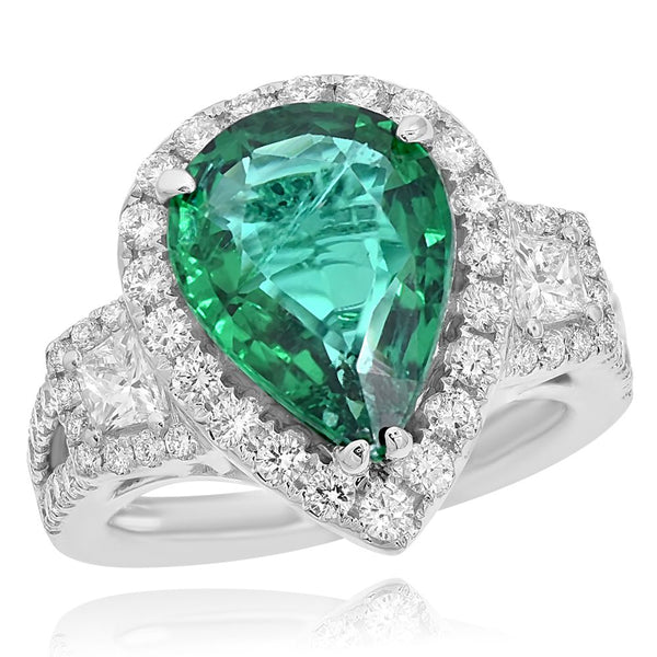 Green Emerald & Diamond Fashion Ring Greenleaf Diamonds