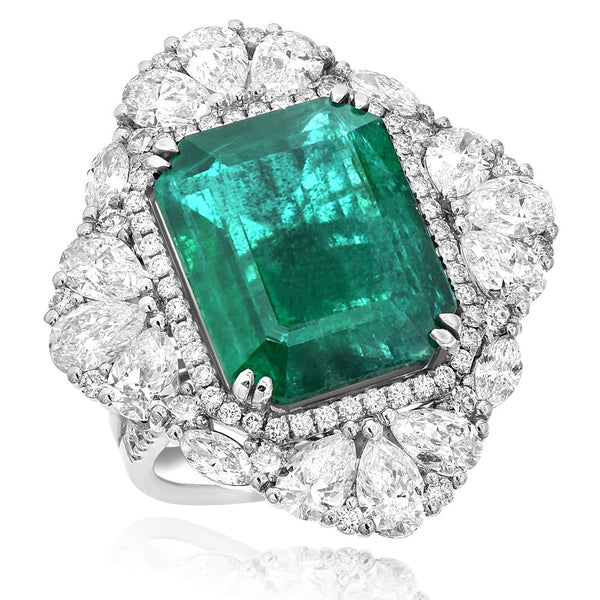 Emerald & Diamond Ring & Pendant Greenleaf Diamonds