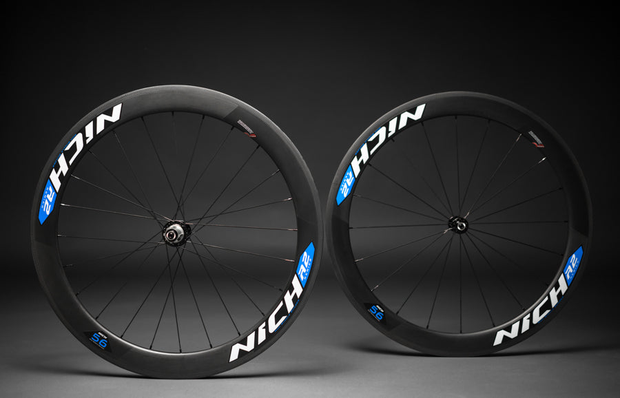 NICH Carbon wheelset Blue decal Atem2 clincher