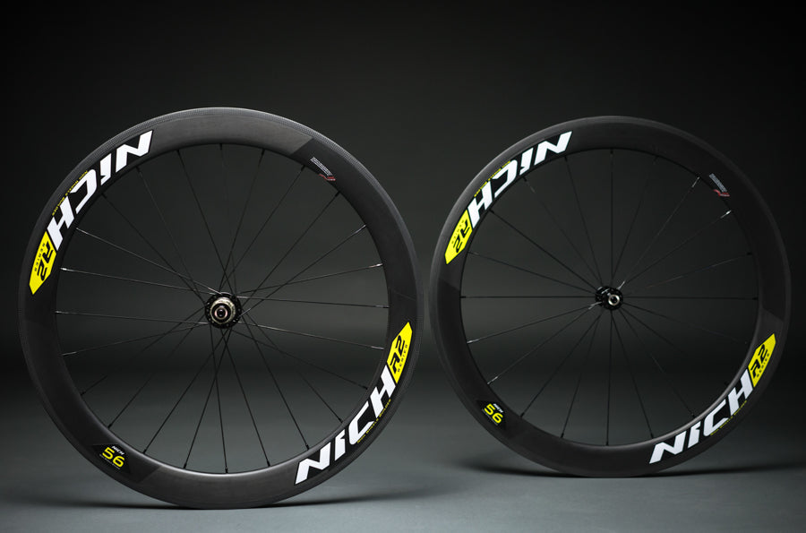 NICH Carbon wheelset Yellow decal Atem2 clincher