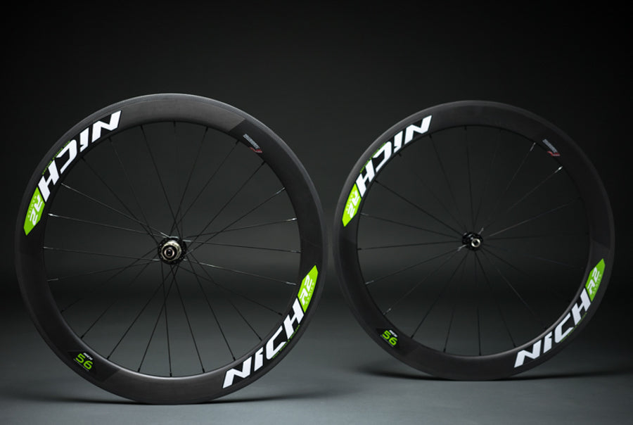 NICH Carbon wheelset Green decal Atem2 clincher