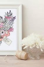 Load image into Gallery viewer, Personalised Bouquet of flowers Print