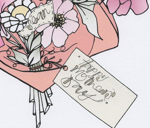 Personalised Bouquet of flowers Print