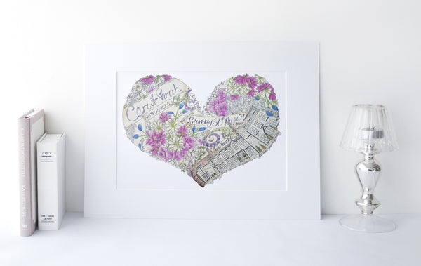 Wedding Anniversary Heart Illustration
