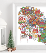 Load image into Gallery viewer, Personalised Colour Christmas Family Heart