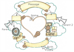 Load image into Gallery viewer, Neutral Heart Cloud Cycle Personalised Print