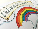 Load image into Gallery viewer, Rainbow Cloud Cycle Personalised Print