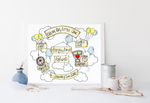 Load image into Gallery viewer, Balloons Cloud Cycle Personalised Print