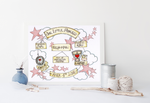 Load image into Gallery viewer, Pink Stars Cloud Cycle Personalised Print