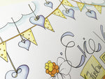Load image into Gallery viewer, Daisies and Bunting Personalised Print