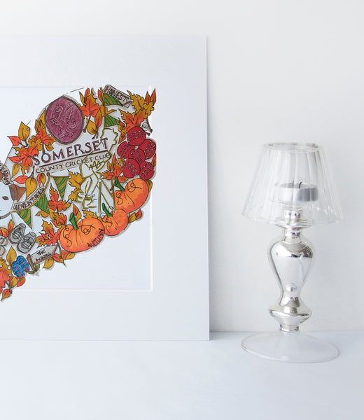Custom personlaised Anniversary Gift from bride to Groom. Autumn colours
