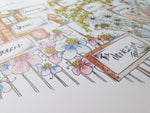 Load image into Gallery viewer, Personalised Family Garden Heart Print