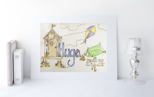 Hugo Christening Illustration