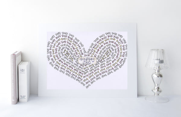 Love Love Love Love Love... personalised heart