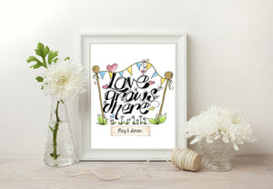 Love Grows Here Print - Black