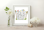 Load image into Gallery viewer, Love Grows Here Print - Grey