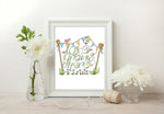Load image into Gallery viewer, Love Grows Here Print - Green