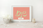 Load image into Gallery viewer, Hand Illustrated Love Print - Mint on Coral