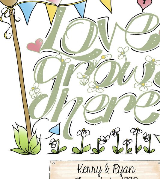 Love Grows Here Print - Green