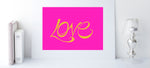 Load image into Gallery viewer, Hand Illustrated Love Print - Mustard on Pink