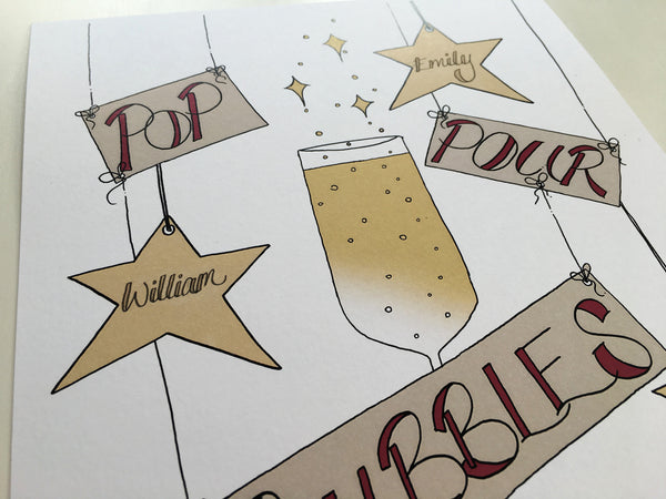 """Pop Pour Bubbles"" print."